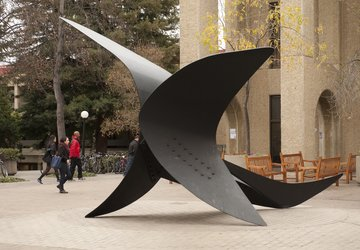 Alexander Calder Metal Falcon sculpture at Stanford Law School