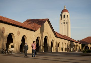 Stanford Quad and Hoover Tower