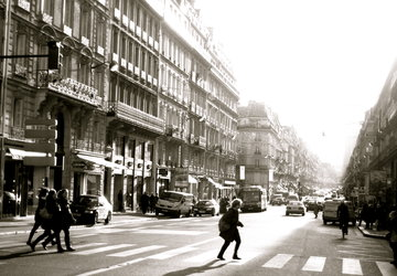 Paris Street Black & White